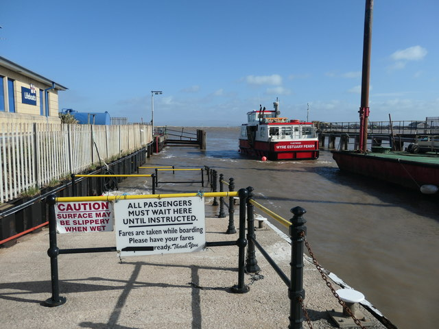 Ferry arriving from Knott End