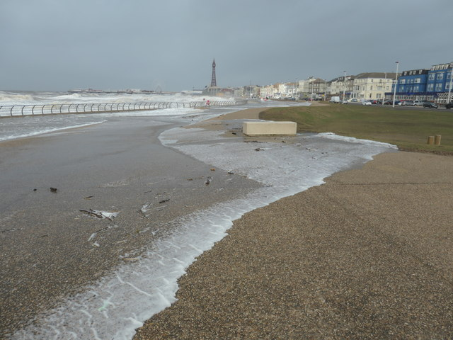 Sea on the prom, between South Pier and Central Pier
