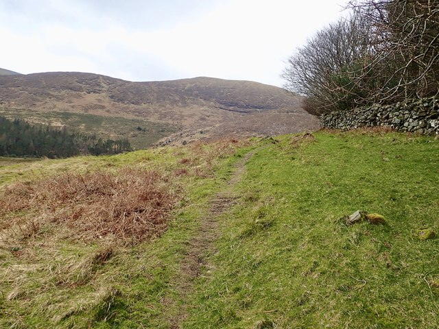 Path following the outer periphery of Tollymore Forest Park