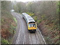 ST1686 : Pacer train near Caerphilly by Gareth James