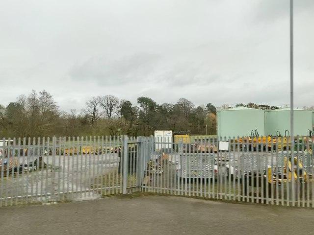 Entrance to storage depot