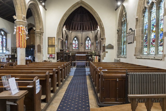 St Botolph's church, Quarrington, interior