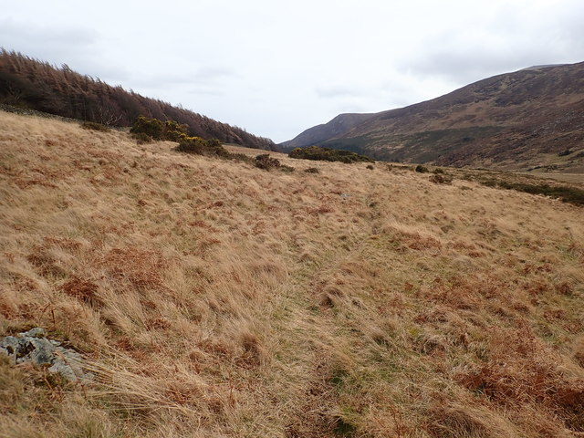 Lateral moraine between Curraghard Mountain and the Tullybranigan Wetland