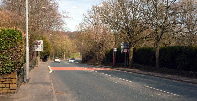 A58 on the edge of Lightcliffe