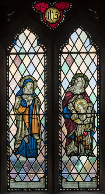 Stained glass window, St Botolph's church, Quarrington