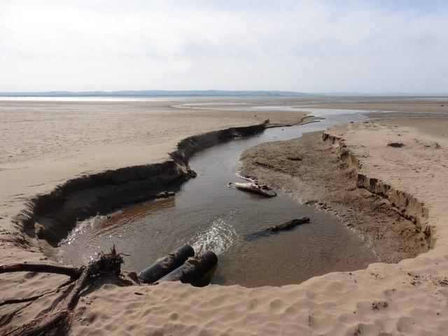 Drainage outfall, Berrow Beach