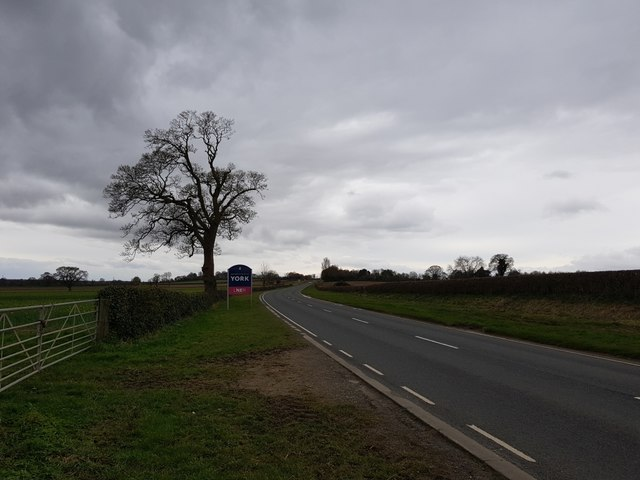 A166 and York sign