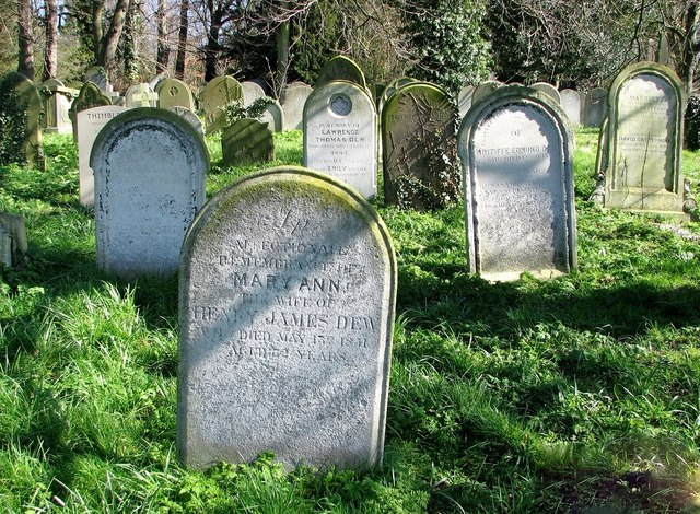 Graves of the Dew Family