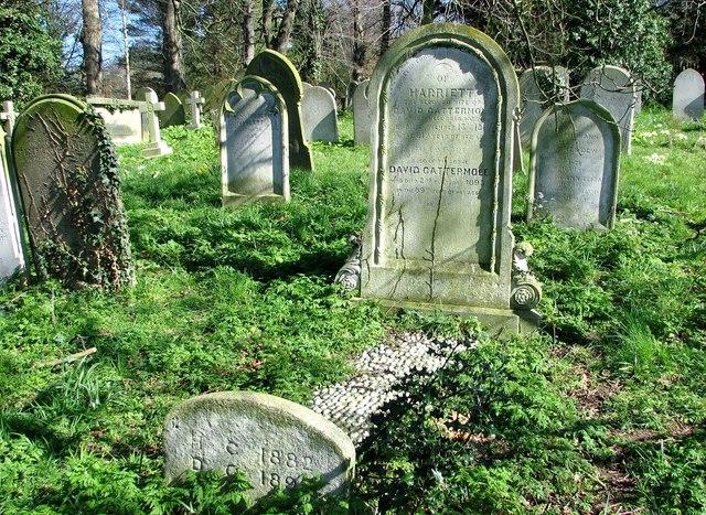 The grave of David and Harriett Cattermole