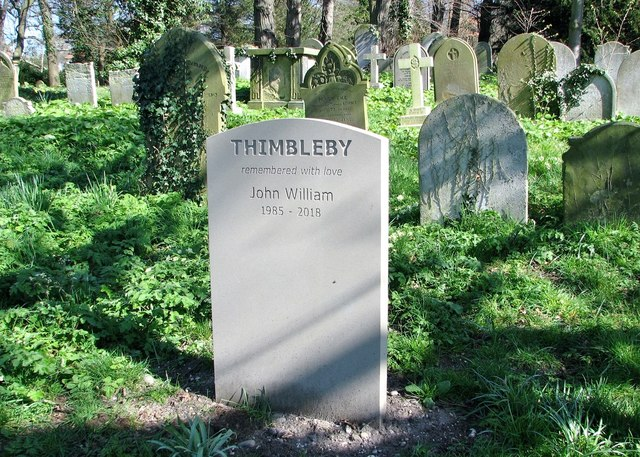 The grave of John William Thimbleby