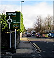 SO2914 : Directions sign on an Abergavenny corner by Jaggery
