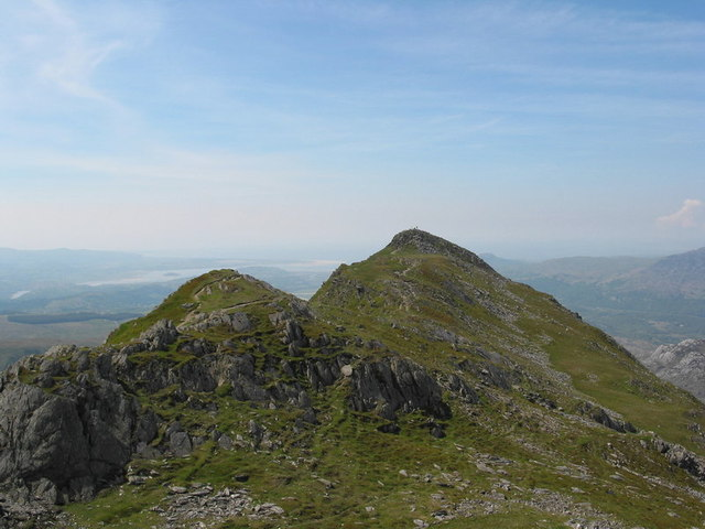 View South-westwards along the summit ridge of the Cnicht