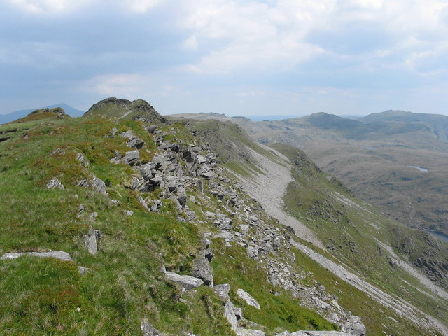 Screes on the south-eastern slopes of the Cnicht