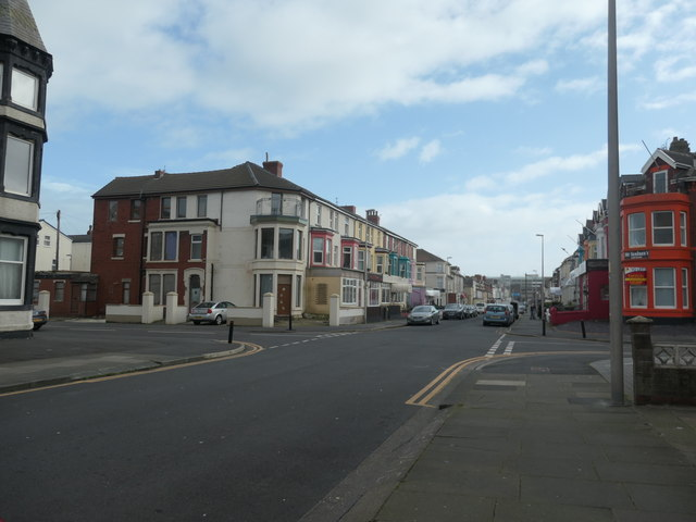 Colourful hotels on Lord Street, Blackpool
