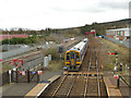 NY9464 : Hexham station: eastbound departure by Stephen Craven