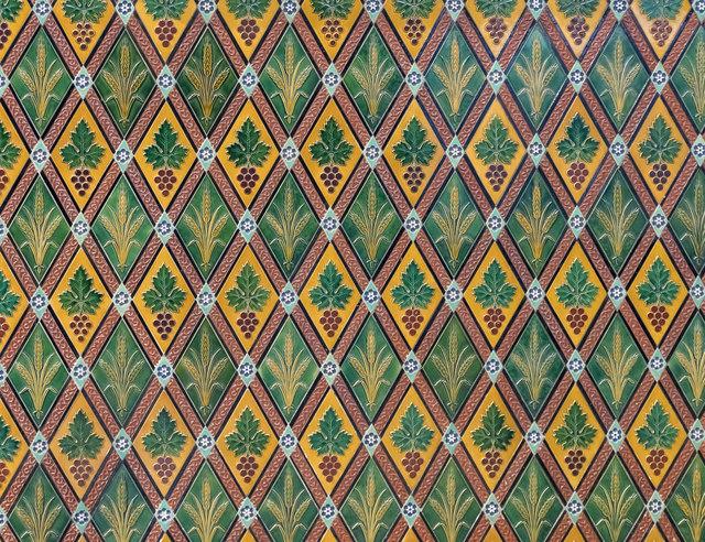 Tiles in the chancel, Quarrington church