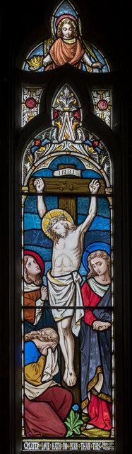 Chancel Stained glass window, St Botolph's church, Quarrington