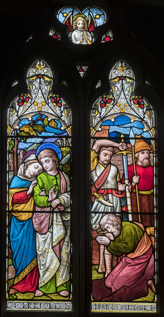 Chancel Stained glass window, St Botolph's church, Quarrington