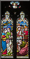 TF0544 : Chancel Stained glass window, St Botolph's church, Quarrington by Julian P Guffogg