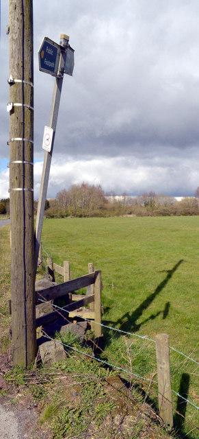 Stile on northern side of Windy Bank Lane, Hartshead