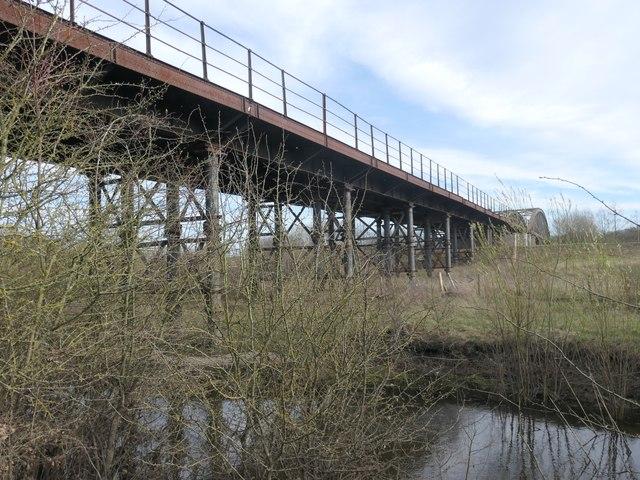 Railway viaduct, RSPB Fairburn Ings