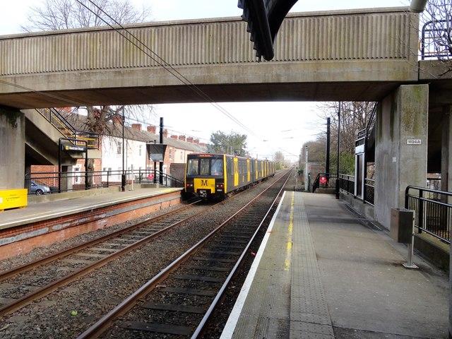 Train leaving Hadrian Road Station