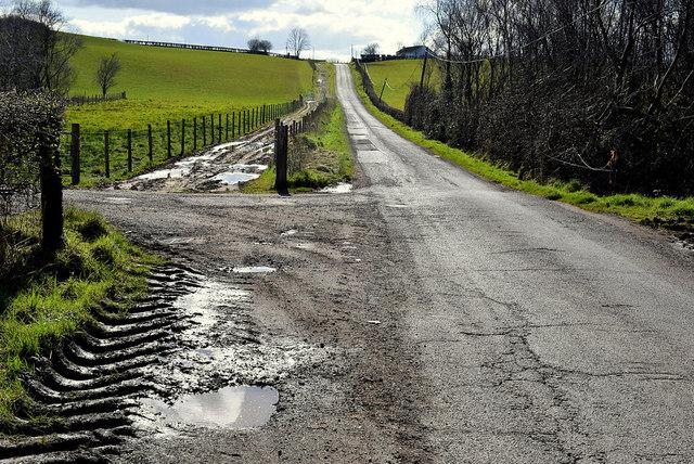 Dirty along Killadroy Road