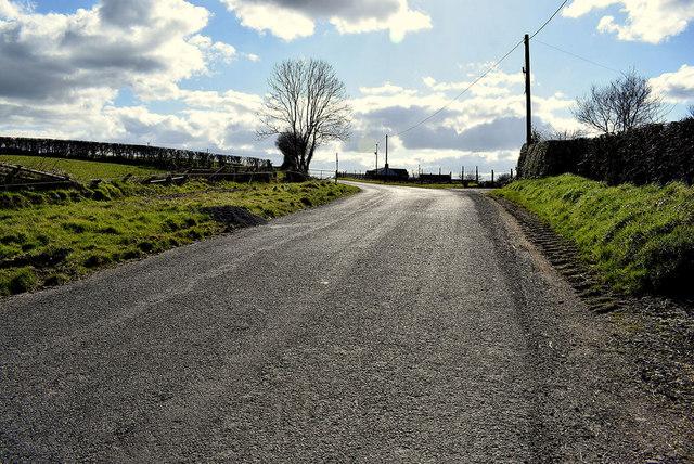 A steep climb along Killadroy Road