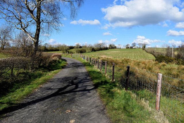 A bend ahead on Rock Road