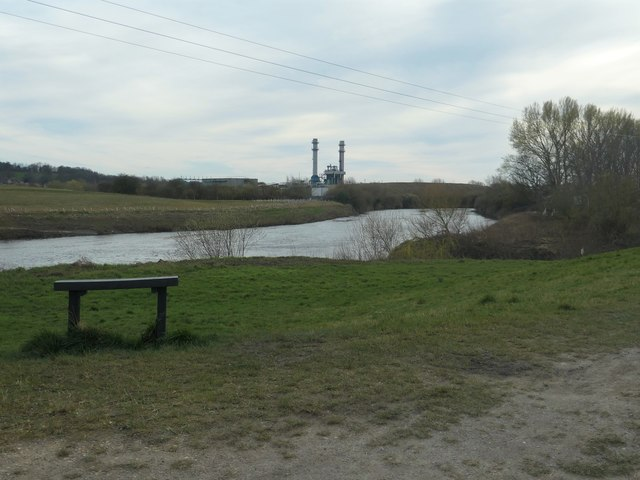 The River Aire and Castleford Ings