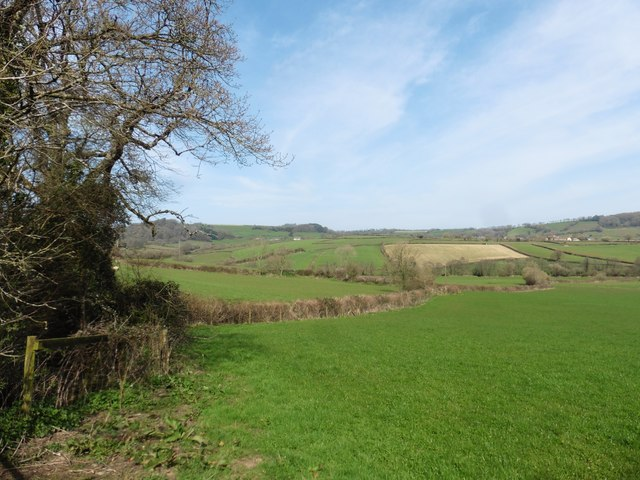 Farmland, above the Coly Valley