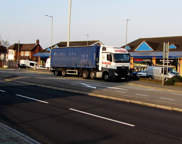 Bridgetime articulated lorry, Malpas Road, Newport