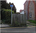 ST4788 : Cycle route direction sign, Newport Road, Caldicot by Jaggery