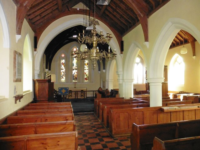 Interior, St Lawrence Church, Southleigh