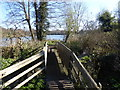 TQ5156 : Bridge over the River Darenth at Sevenoaks Wildlife Reserve by Marathon