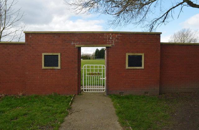 Entrance to Hartshead Moor Cricket Club's ground