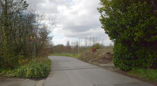 Service road leading to Hartshead Moor Services