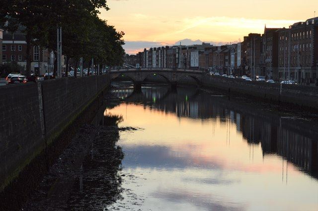Mellow Bridge and River Liffey