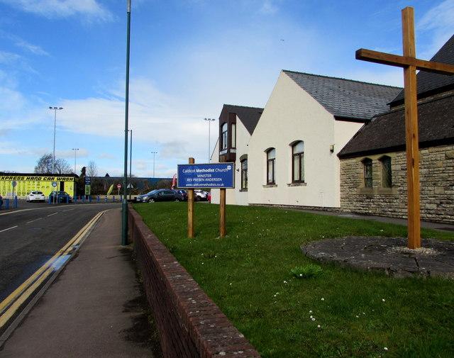 Wooden cross, Jubilee Way, Caldicot