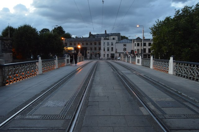 Tram lines, Sean Heuston Bridge