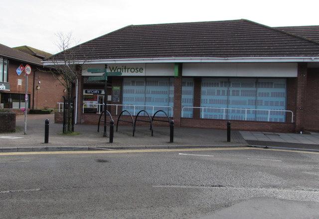 Bicycle parking area outside Waitrose, Caldicot