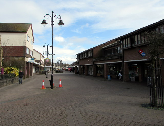 Pedestrianised part of Newport Road, Caldicot