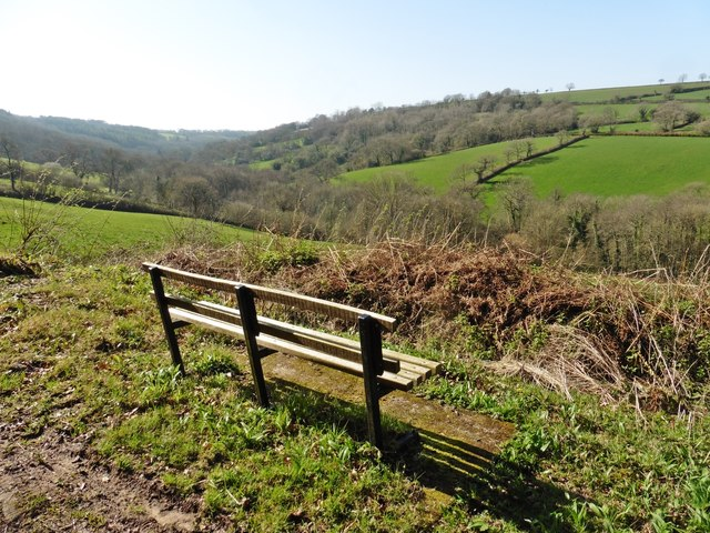 Seat with a view, above Southleigh