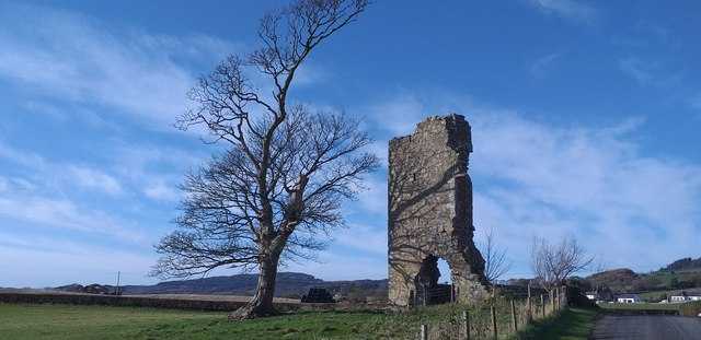 The remains of Wreaths Tower