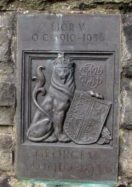 Heraldic lion depiction in Caldicot