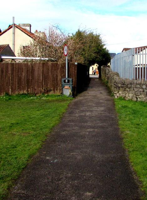 Path towards Caldicot town centre