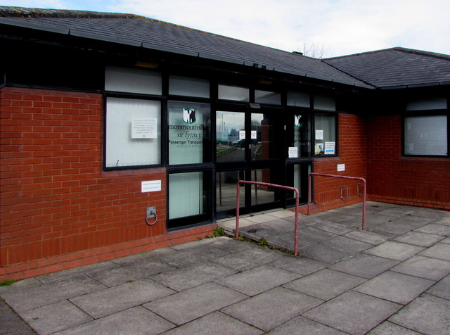 Entrance to the Monmouthshire Passenger Transport office, Caldicot