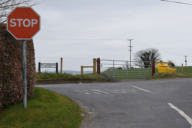Junction of Corlea Road and Mullagharn Road