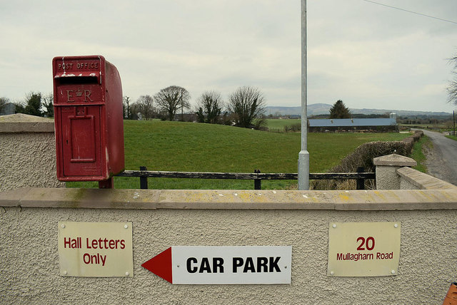 Post box for Gillygooley Hall