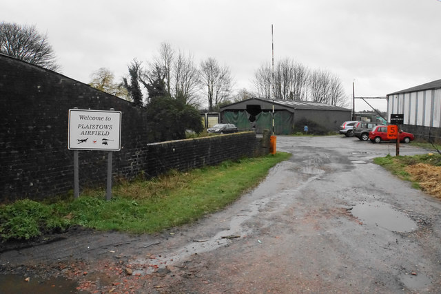 Entrance to Plaistows Airfield